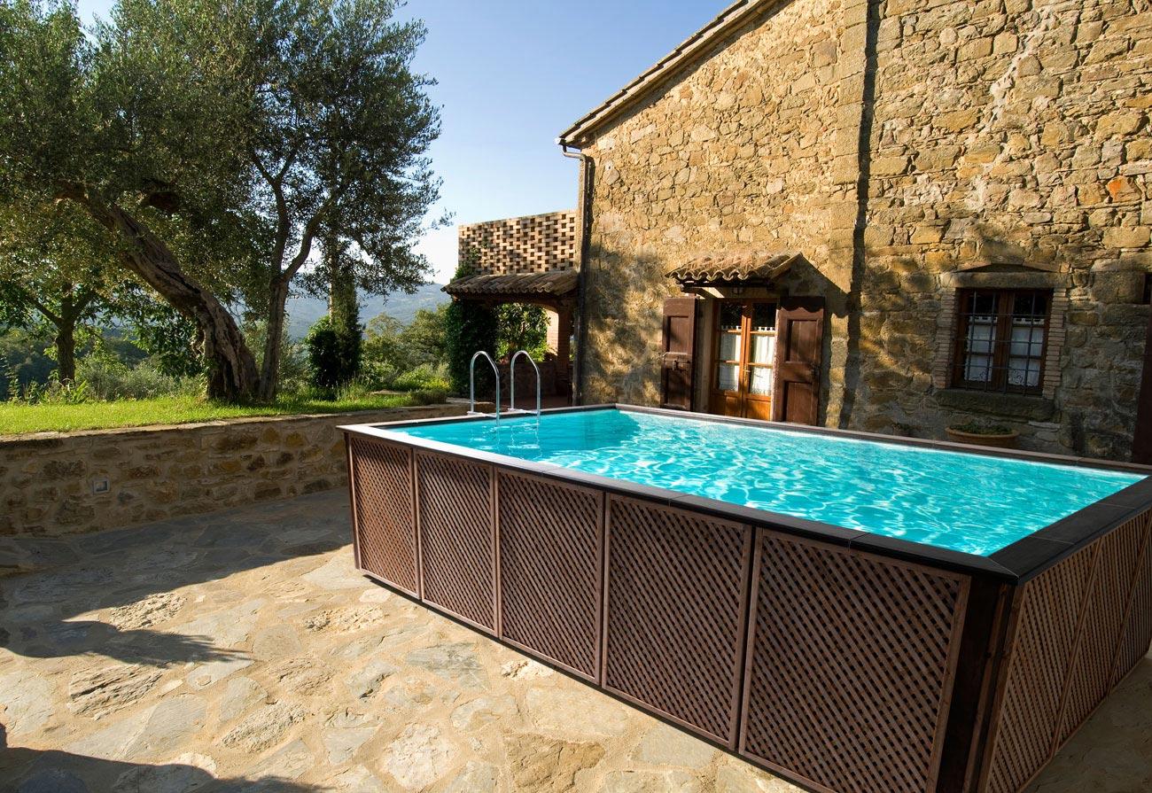 Vendita minipiscine e piscine fuori terra hellas piscine - Piscine fuori terra con solarium ...